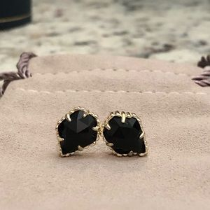 Kendra Scott Tessa Stud Earrings with Black Stone